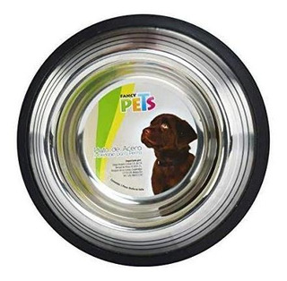 6 Fancy Pets Plato De Acero, 64oz