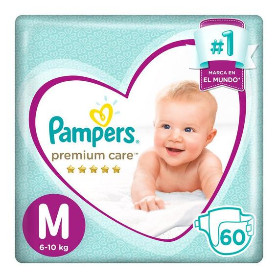 Pampers Premium Care Pañales Desechables M 60 Unidades
