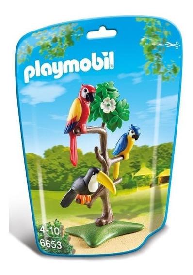 Saquinho Playmobil Animais Zoo - Pássaros Tropicais - 6653