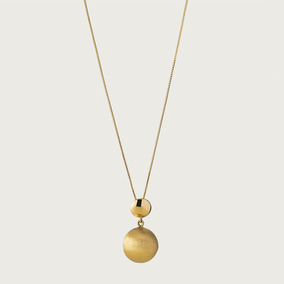 Gargantilha Em Ouro 18k Com Pingente - Linha Satélite