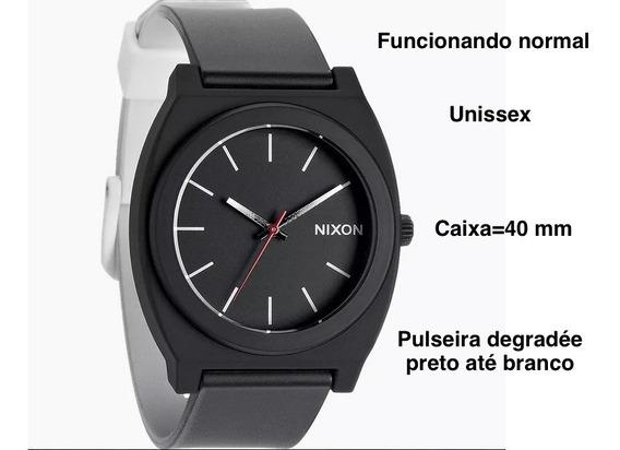 Relógio Nixon Time Teller P Pulseira Black White Degradeé