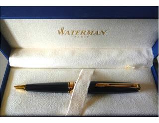 Bolígrafo Ballpoin Waterman Charleston Ebony Resina Y Oro