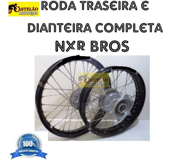Aro Roda Montada Nxr Bros 125-150 Aros Preto Aluminio [par]