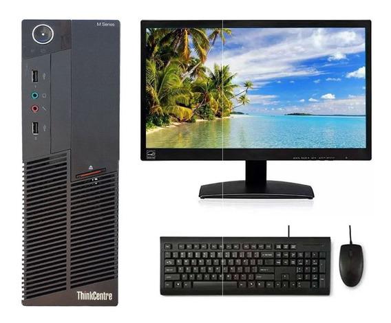 Cpu Lenovo M90p Core I5 8gb Ssd 120gb + Monitor 20