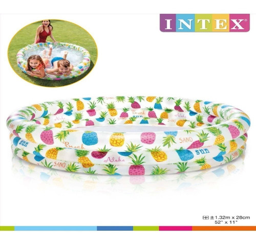 Piscina Inflable Peces 2 Personsas 59431np 138x 28 Cm  Intex
