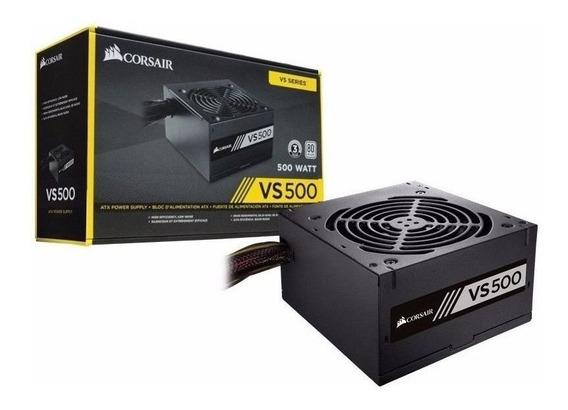 Fonte Corsair Gamer Vs500 500w Real 80 Plus White Cp9020118