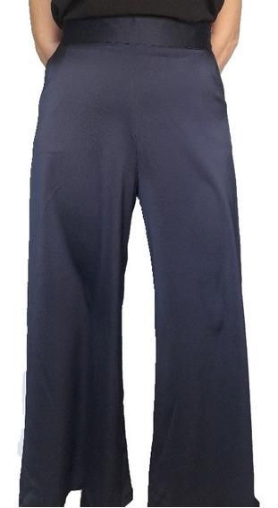 Pantalón Mujer Palazzo Crepe T.alto Moda Las Antonias La0020