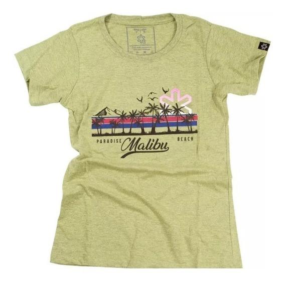 Camiseta Feminina Tuff Mostarda Silk Malibu Ts 1213