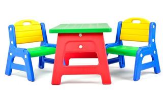 Mesa Y Sillas Infantiles Juegos Niños Rodacross