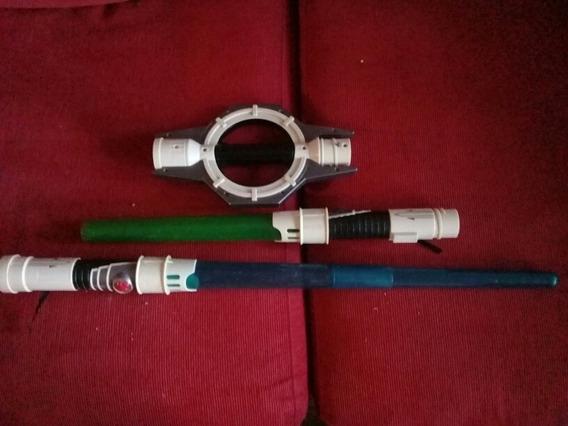 Espada Doble Con Luz Y Sonido De Star Wars