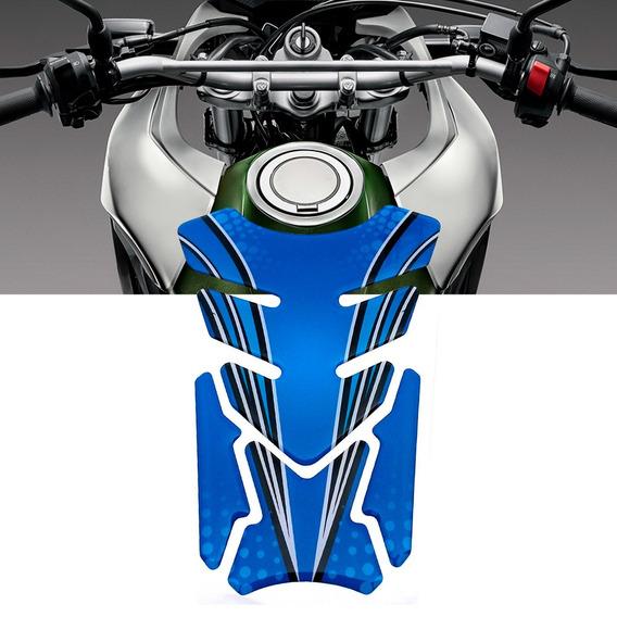 Adesivo Protetor De Tanque Tank Pad Para Moto Azul Kawasaki