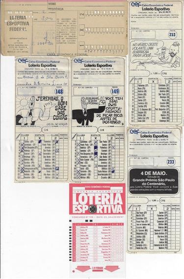1973/1997 Lote Composto Por 6 Volantes Da Loteria Esportiva