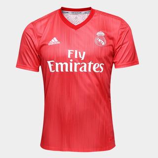 Camisa Real Madrid Oficial Promoção 2018 Masculina Vermelha