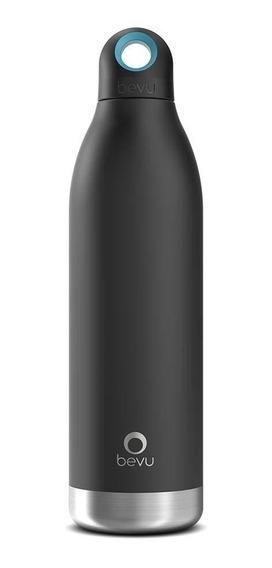 Termo / Botella Térmica Bevu De 550 Ml / 18oz Color Negro.