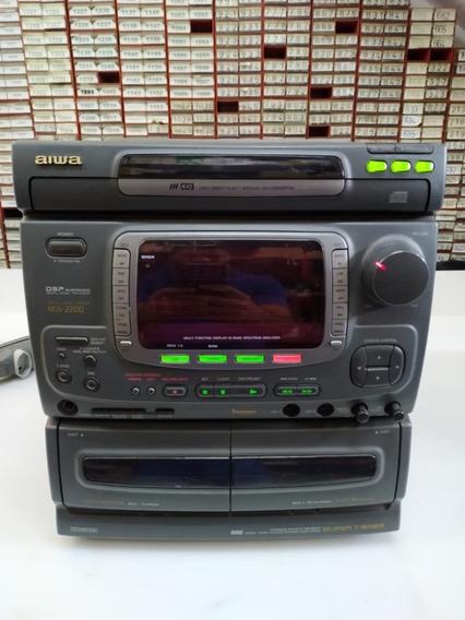 Mini System Aiwa Nsx - 999 Mkii Completo