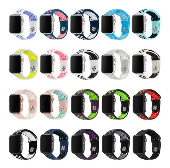 Pulseira Nike Sport Para Apple Watch, Iwo 8 E 9 Silicone 38mm 42mm 40mm 44mm