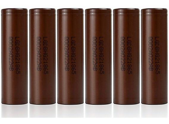 06 Baterias Lg Hg2 18650 3000mah 20a Chocolate Vaper Genuína