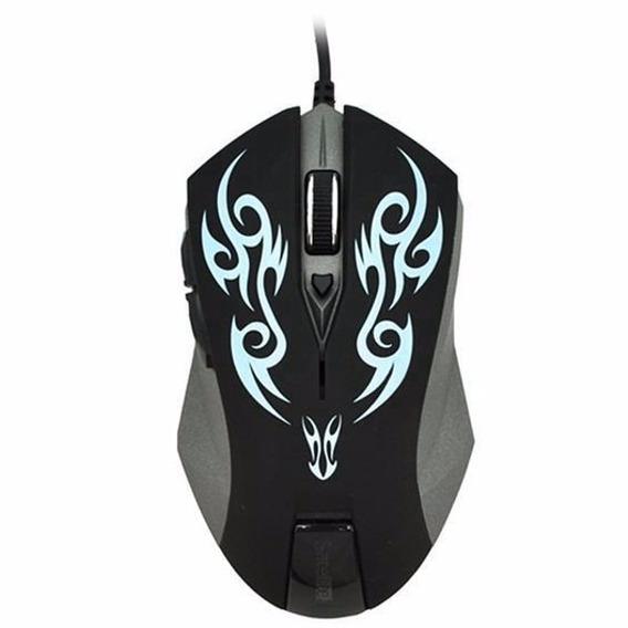 Mouse Gamer 6 Botões 2400 Dpi Alta Performance Jogos A53 Nfe