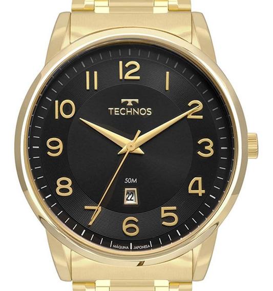 Relógio Technos Masculino Dourado 2117lbh/4p C/ Nfe