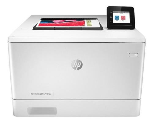 Imagem 1 de 5 de Impressora a cor função única HP LaserJet Pro M454dw com wifi branca 110V - 127V W1Y45A