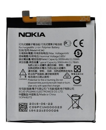 Bateria Interna Nokia 5.1 Plus Original