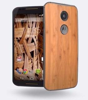 Celular Moto Xt1058 Bambo Movistar Tapa Bambu Madera