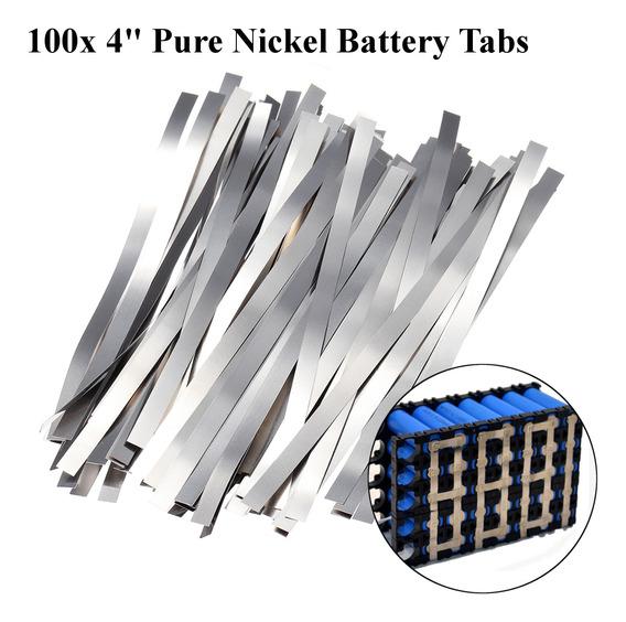 100pcs 0.1* 4*100mm Pure Níquel Fita De Soldagem Elétrica