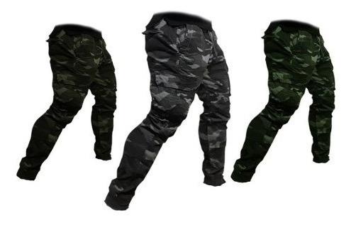 Pantalon Cargo Camuflado Elastizado Con Puño 40 Al 50