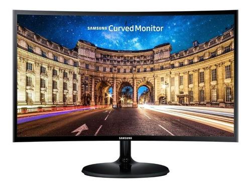 "Monitor gamer curvo Samsung C24F390FH led 24"" preto 100V/240V"