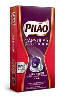 Cápsulas Café Pilão Lungo 8