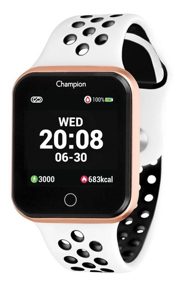Smartwatch Champion Quadrado Rose Ios Android Original+nf