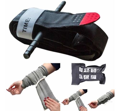 Kit 8x Bandagem Israelense + 16x Torniquete Militar Tático