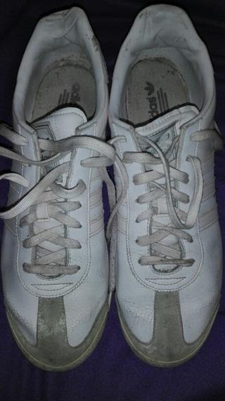 Zapatillas adidas Originals De Cuero Blanco Fr48 Imp Vietnam