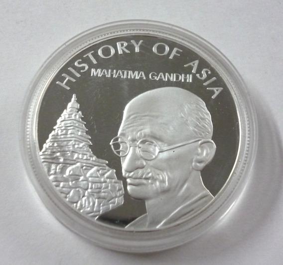 Islas Cook Moneda 2004 De 1 Dolar De Mahatma Gandhi