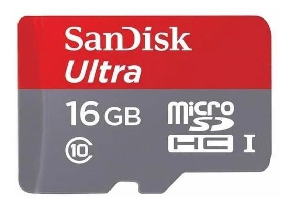 Cartão De Memória Ultra 16gb 100% Original Sandisk Classe 10