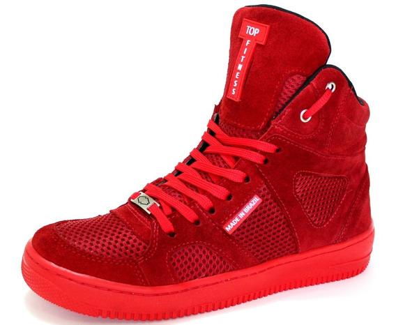 Botinha Sneakers Exclusiva Academia Em Couro Melhor Preço