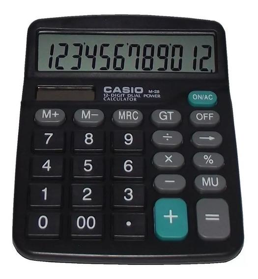 Calculadora Casio M-28 Solar O Bateria 12 Digitos