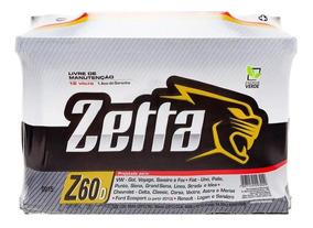Bateria Zetta 60ah ( Não Necessita A Sua Na Troca) Gol Celta