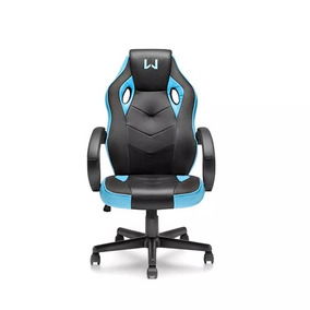 Cadeira Giratória Gamer Azul Warrior Ga161 Multilaser