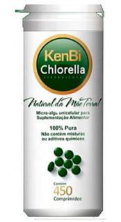 Chlorella Kenbi 450 Comprimidos - 100% Pura Clorella