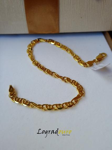 Pulseira Ouro Italiana 18k 10,14g