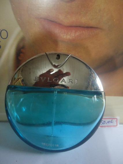 Perfume Bulgari Aqva Pour Homme 50ml Vazio P/colecionador43