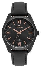 Relógio Technos Masculino Pulseira De Couro 2115msp/4p