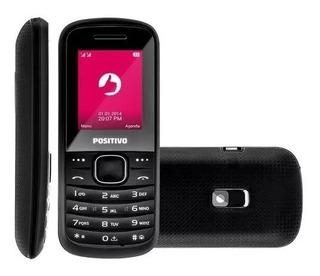 5pçs - Celular Positivo P20 Dual, Preto, Camera, Mp3 Com Nf