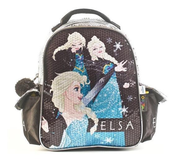 Mochila Frozen Elsa Lentejuelas 12 Pulgadas Wabro 88310