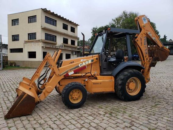 Retro Escavadeira Case 580 L 4x4 Ano 2004