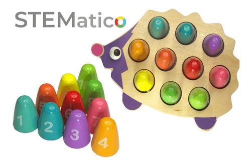 Imagen 1 de 8 de Juguete Didáctico De Madera. Cuenta Y Aprende Los Números.