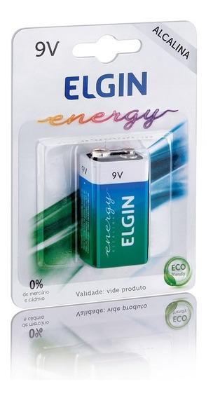 Bateria 9v Alcalina 1 Unidade Alta Durabilidade Elgin
