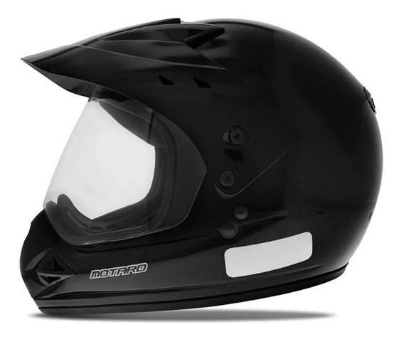 Capacete Moto Ebf Motard Preto/preto Fosco Motocross/trilha