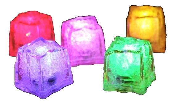 Cubo Hielo Luminosos Led 12 Piezas Multicolor